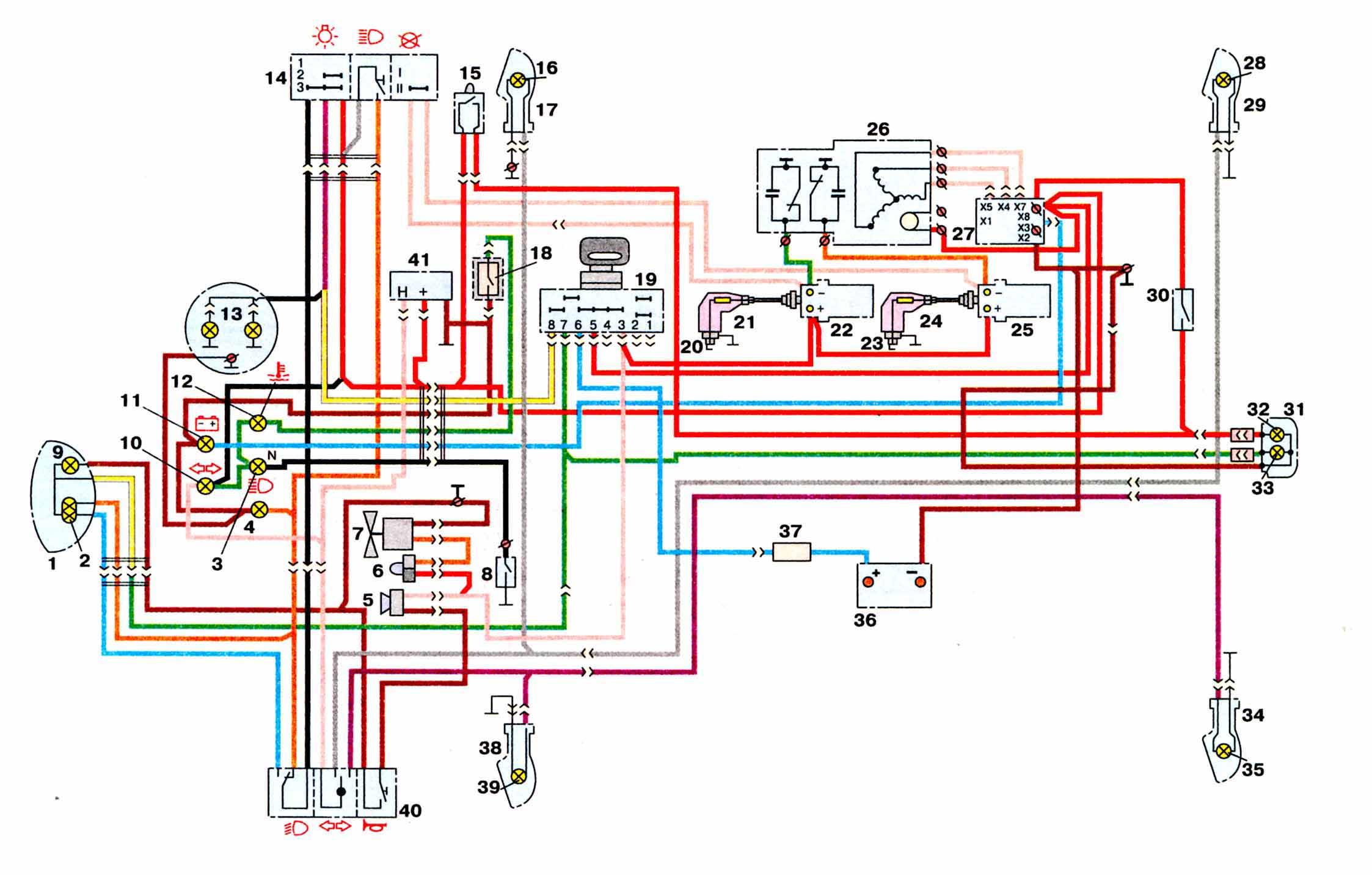 Персональный сайт - Схема электрооборудования мотоциклов ИЖ 6.113 (Юпитер-5) .