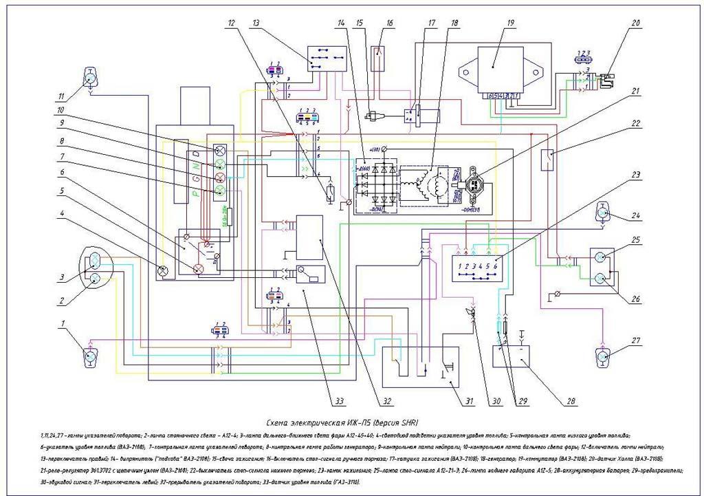 Просмотров: ... схема електро проводки мотоцикла Иж планета(юпитер) 4...